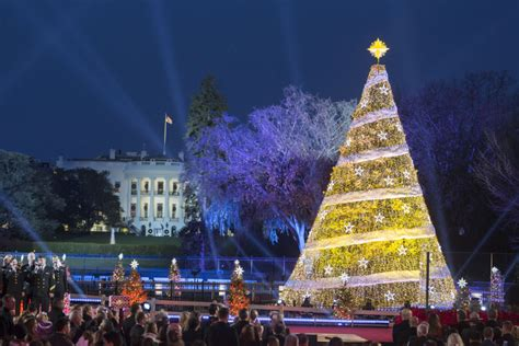 national christmas tree lighting 2017 at christmas tree lighting president trump revives the