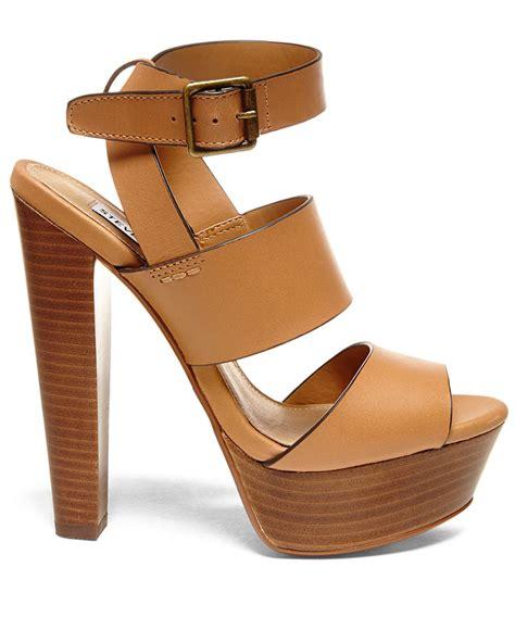 steve madden dress sandals lyst steve madden s dezzzy platform dress sandals
