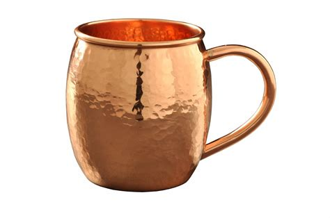 hammered copper mugs 16 oz barrel shaped hammered copper moscow mule mug on storenvy