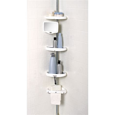 bathroom caddies zenith e5804b tub and shower corner caddy shower and