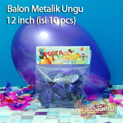 Balon Doff Ungu Muda 10 Inch balon metalik ungu 12 inch isi 10 pcs pestaseru