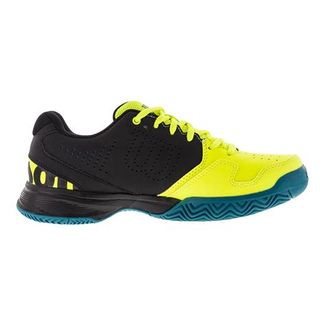 wilson juniors kaos comp tennis shoes in safety yellow