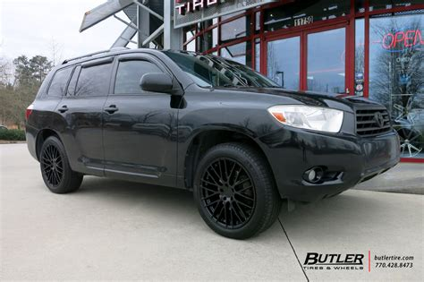 toyota highlander wheels toyota highlander with 20in tsw max wheels exclusively