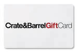 Crate And Barrel Online Gift Card - crate barrel retail stores gift cards