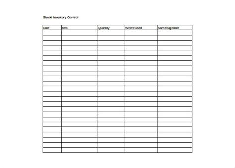 inventory excel spreadsheet equipment inventory free download