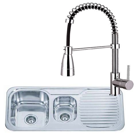 kitchen sink and tap sets small round bowl stainless steel inset kitchen sink