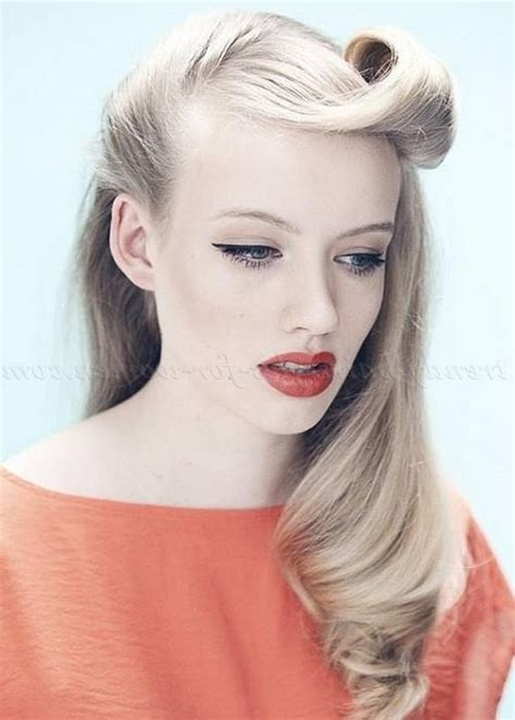 half up half down vintage hairstyles 2018 latest long hairstyles retro