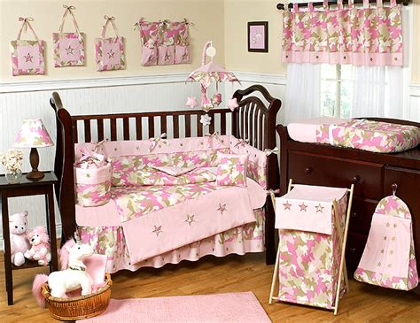 Camouflage Baby Crib Bedding Set by Camo Pink Crib Bedding Collection