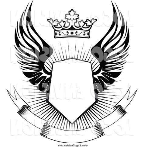 unique military tattoo designs vector cdr 187 free vector hd wings shield on roman vector library vector drawing