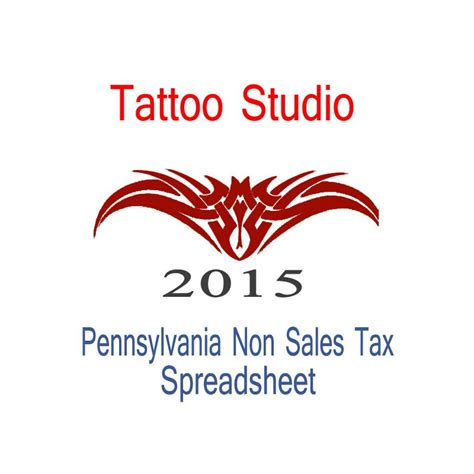 tattoo prices york pa pennsylvania non sales tax tattoo artist bookkeeping for