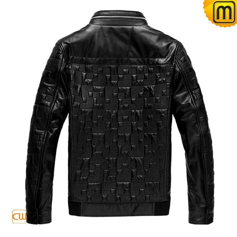 Mens Quilted Black Jacket by Mens Black Quilted Leather Jacket Cw866817