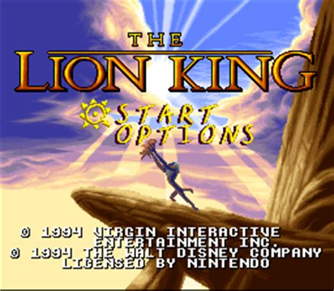 emuparadise lion king lion king the usa rom