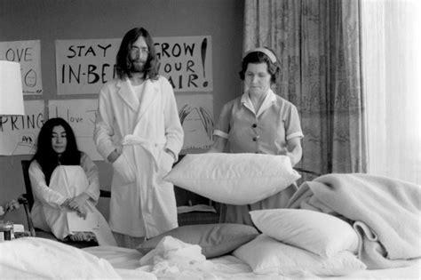Bed Peace Mp3 by Il Y A 50 Ans Lennon Et Yoko Ono Lan 231 Aient Leurs