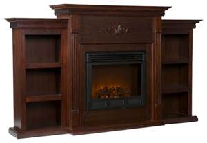 fireplace with bookcases fredericksburg electric fireplace with bookcases espresso