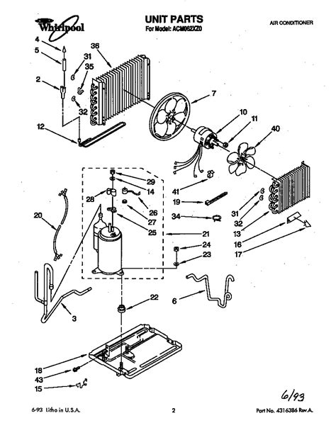 whirlpool window air conditioner replacement parts whirlpool air conditioner parts diagrams wiring data