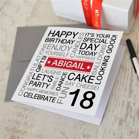 Ideas For 18th Birthday Cards Handmade - personalised 18th birthday card by a type of design