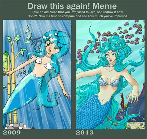 Mermaid Memes - draw this again meme memphis the mermaid by tamarrei on