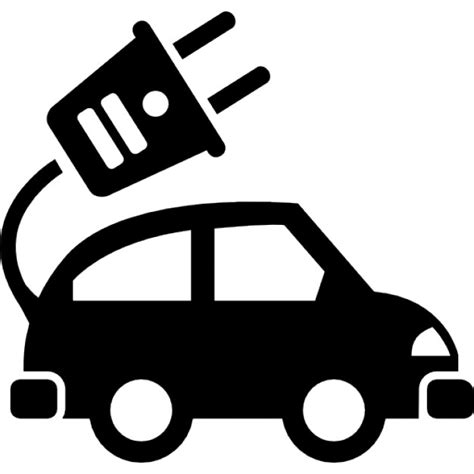 electric vehicles symbol electric car ecological transport icons free