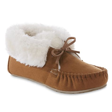 route 66 slippers route 66 s marnie brown white moccasin slipper