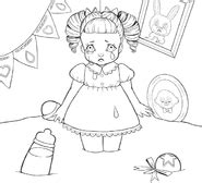 coloring page of crying baby cry baby coloring book melanie martinez wiki fandom