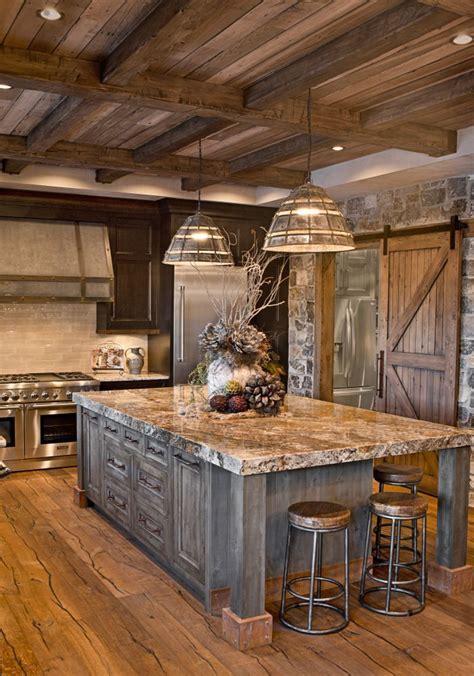 metal building homes interior  rustic kitchen rustic