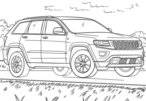 Coloring Pages Jeep Grand Cherokee | jeep grand cherokee coloring page free printable