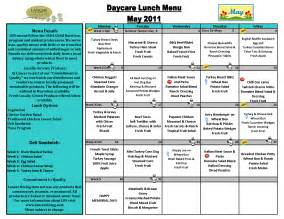 daycare menu templates 6 best images of printable sle day care menu food