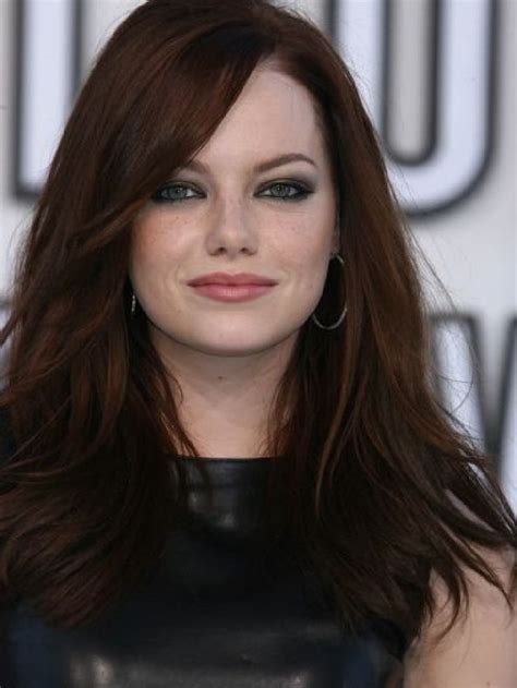 emma stone brown hair emma stone smokey eyes and brown hair makeup and beauty