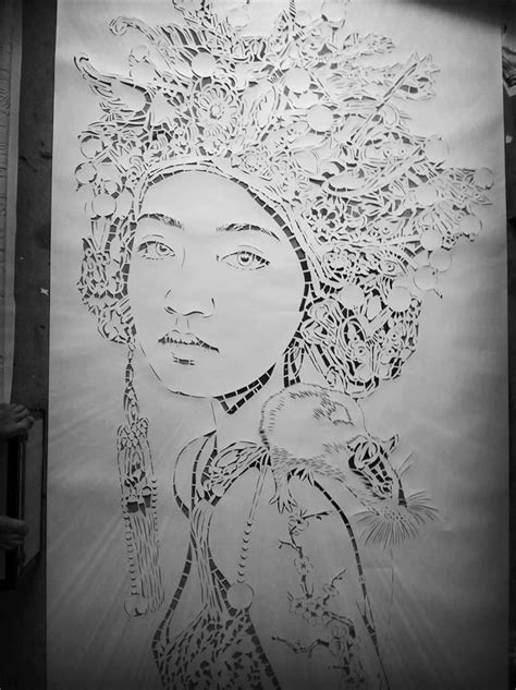 large scale stencil art scene