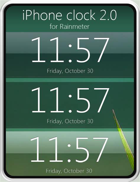 Themes Clock Iphone | iphone clock 2 0 for rainmeter by fediafedia on deviantart