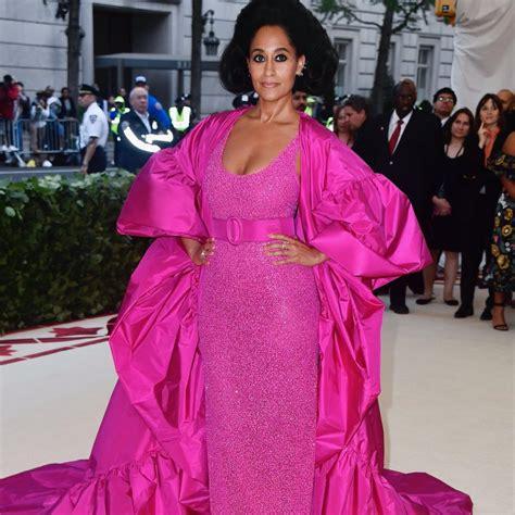 tracee ellis ross pink dress tracee ellis ross in michael kors collection 2018 met