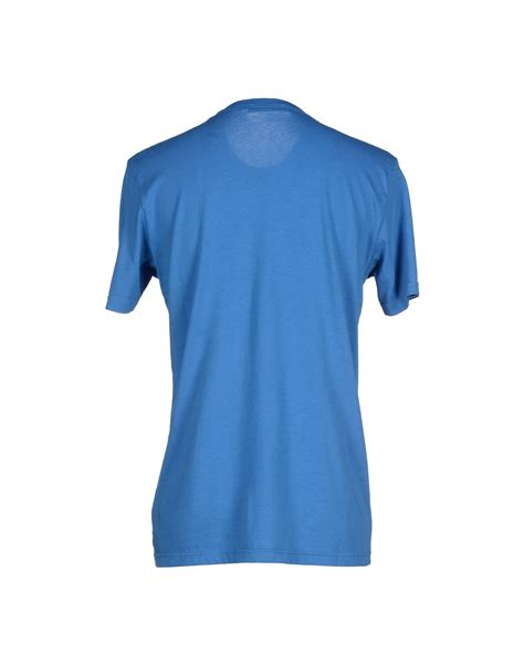 shirts for lyst balmain t shirt in blue for