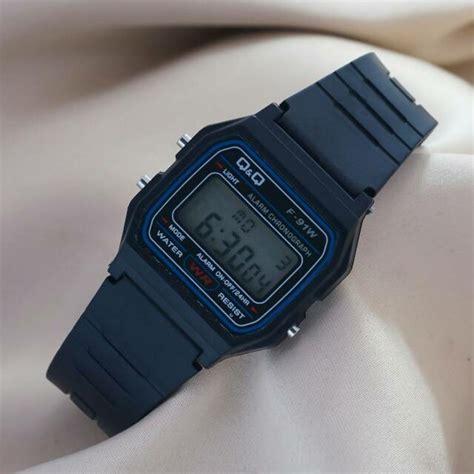 Jam Tangan Favorite Digital Hitam jam tangan anak digital qq qnq q q model casio f 91w hitam