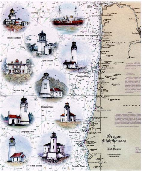 map of oregon lighthouses oregon