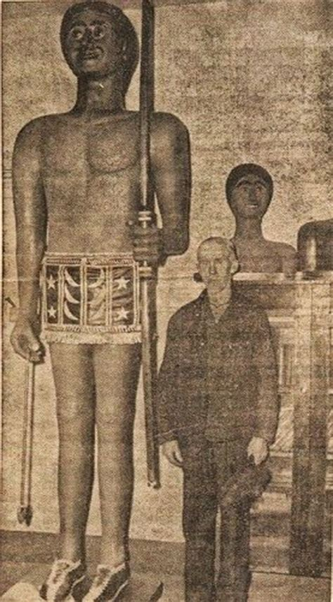 skeletons come out and places from drilling 9 foot giant nephilim is carved from wood by an eyewitness