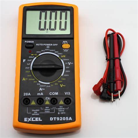 Digital Multitester Multimeter Dt 9205e aliexpress buy dt9205a digital multimeter volt