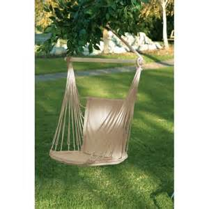 cotton padded swing chair hammock espresso outdoor hanging
