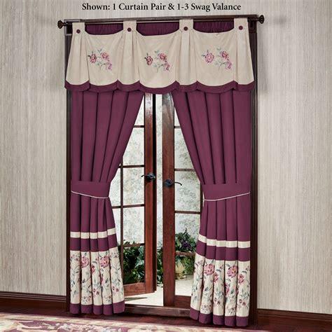 swag window curtains mystic garden swag valance window treatment