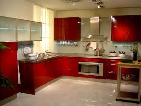 Home Kitchen Interior Design Red Paint Wall Kitchen Interior Design Style