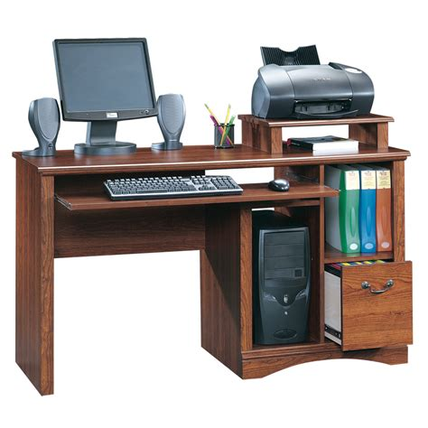 lowes computer desk shop sauder camden county planked cherry computer desk at lowes