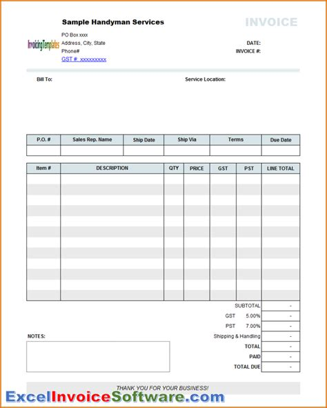 downloadable invoice template excel rabitah net