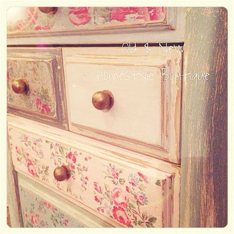 Paper For Decoupage On Furniture - decoupaged with paper napkins then distressed for a shabby