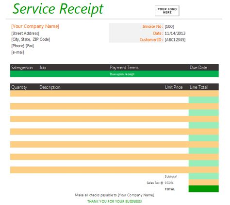 receipt of services templat how to choose the right receipt template soft templates