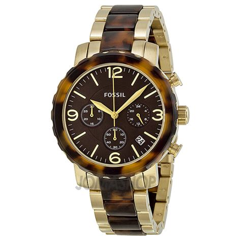 fossil natalie chronograph two tone jr1382