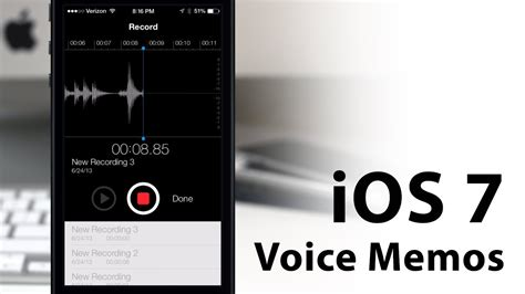 new youtube layout ios hands on ios 7 voice memos app new design layout youtube