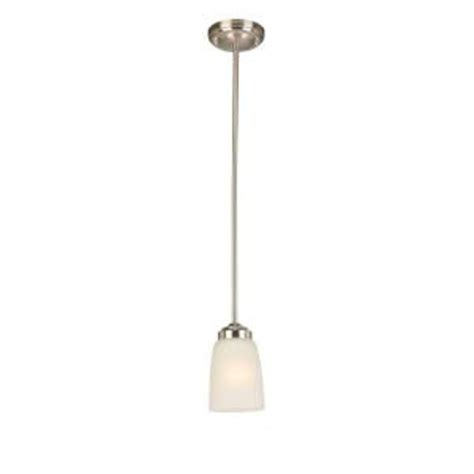 Hton Bay Lighting Fixtures Catalog Hton Bay 1 Light Brushed Nickel Mini Pendant Iut8991a 2 The Home Depot
