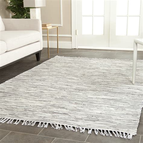 Flat Woven Area Rugs Silver Ivory Safavieh Montauk Woven Flat Weave Area Rug Mtk753a
