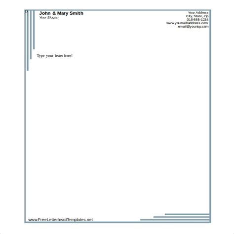 Letterhead Text Template