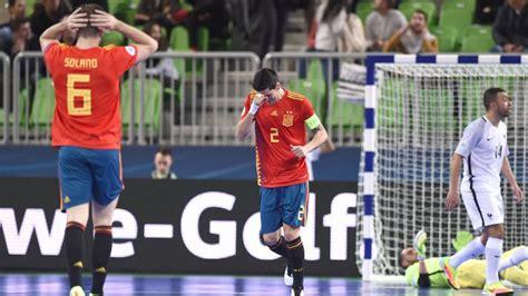 directo futbol sala resumen y resultado del espa 241 a francia europeo de f 250 tbol
