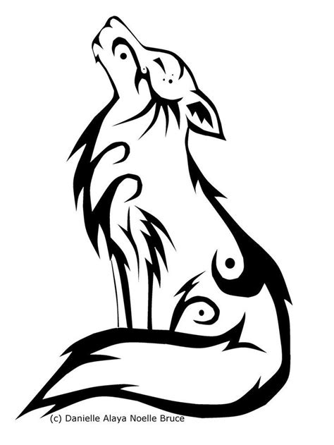 howling wolf tribal tattoo best 25 howling wolf ideas on wolf